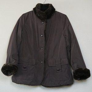 Pendleton Reversible Faux Fur Coat